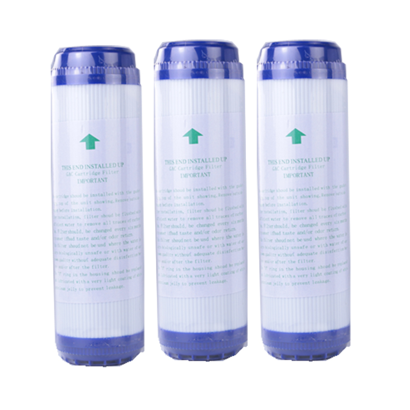 3pcs 10 Inch GAC Granular Activated Carbon Block Water Filter Cartridge Replacement Purifier Water Purifier UDF  Replacement