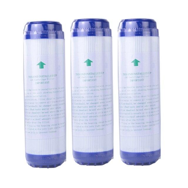 Filtro de água ativado gac para substituição, 3 peças, 10 polegadas, bloco de carbono ativado, purificador de substituição, cartucho de água, purificador de água, substituição udf