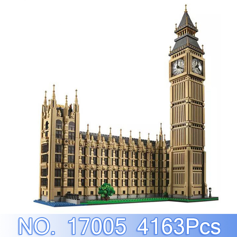 Lepin 17005 City Street Figure 4163Pcs The Big Ben Model Building Kits Blocks Bricks Sets Compatible 10253 Educational Toys Gift aiboully city 7014 7017 model the louvre in paris rome fontana di trevi building blocks sets bricks toys compatible with gift