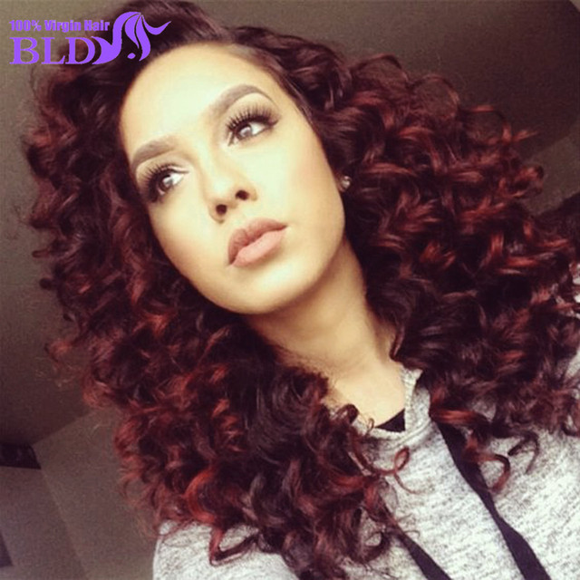7A Brazilian virgin hair bundles with lace closure deep wave 99j with closure 3 Bundles Brazilian Deep Wave With closure
