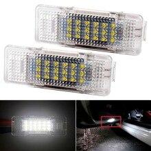 цена на 2pcs 12V 18 SMD LED Car Door Light for BMW E39 E53 X5 Auto No Error Car LED Courtesy Light Bulb Car Styling E39 Accessories