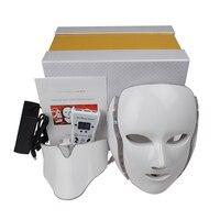 HONKON 7 Colors LED Facial Mask With Neck Skin Rejuvenation Face Care Treatment Beauty Anti Acne