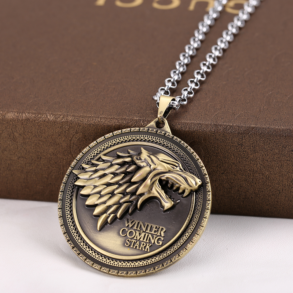 Game Of Thrones House Stark Winter Coming Pendant