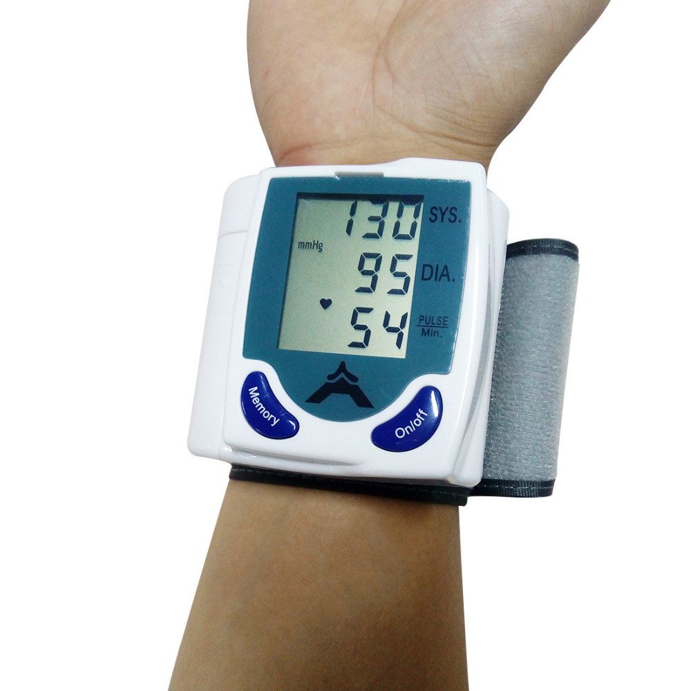 Digital LCD Wrist Blood Pressure Monitor With Heart Beat Rate Pulse Measure Health Care Automatic Wrist Digital Blood Pressure