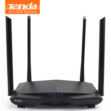 Tenda New AC6 2.4G/5.0GHz Smart Dual Band AC1200 Wireless WiFi Router Wi-Fi Repeater, APP Remote Manage, English  Firmware