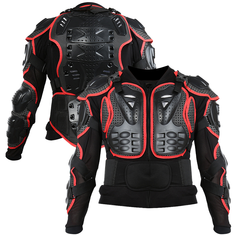 Motorcycle Full Body Armor Jacket Spine Chest Protection Gear Smart S-XL Jacket Motorcross Protector Motocicletas Motos