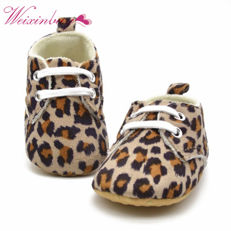 2017 New baby girl shoes prewalkers First Walkers babyshoes newborn shoes infant leopard print shoes