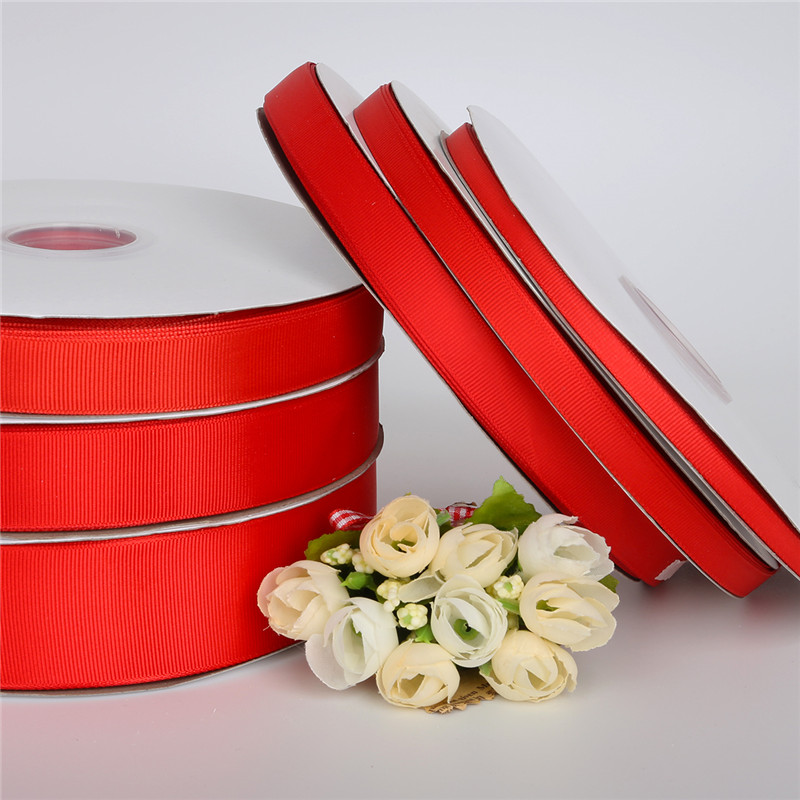 Grosgrain Wire Edge Ribbon White with Red Glittery hearts 38mm 1m 2m 5m 10m