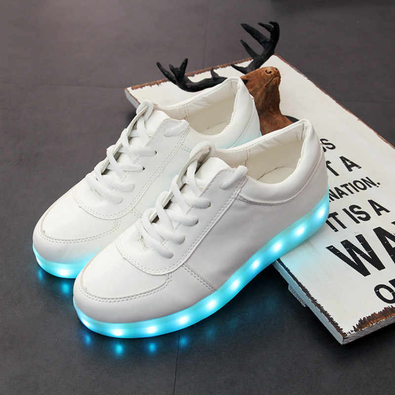 Led luminous รองเท้าผ้าใบรองเท้าเรืองแสงเด็กหญิงรองเท้าส่องสว่างเด็ก usb ชาร์จสบายรองเท้าเด็ก led light