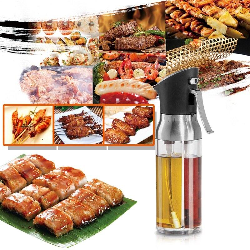 2-in-1 Olive Oil Sprayer Barbecue Spray Bottle Fine Mist Vinegar Sprayer Dispenser for BBQ Good Seasoning Tools kitchen Tool