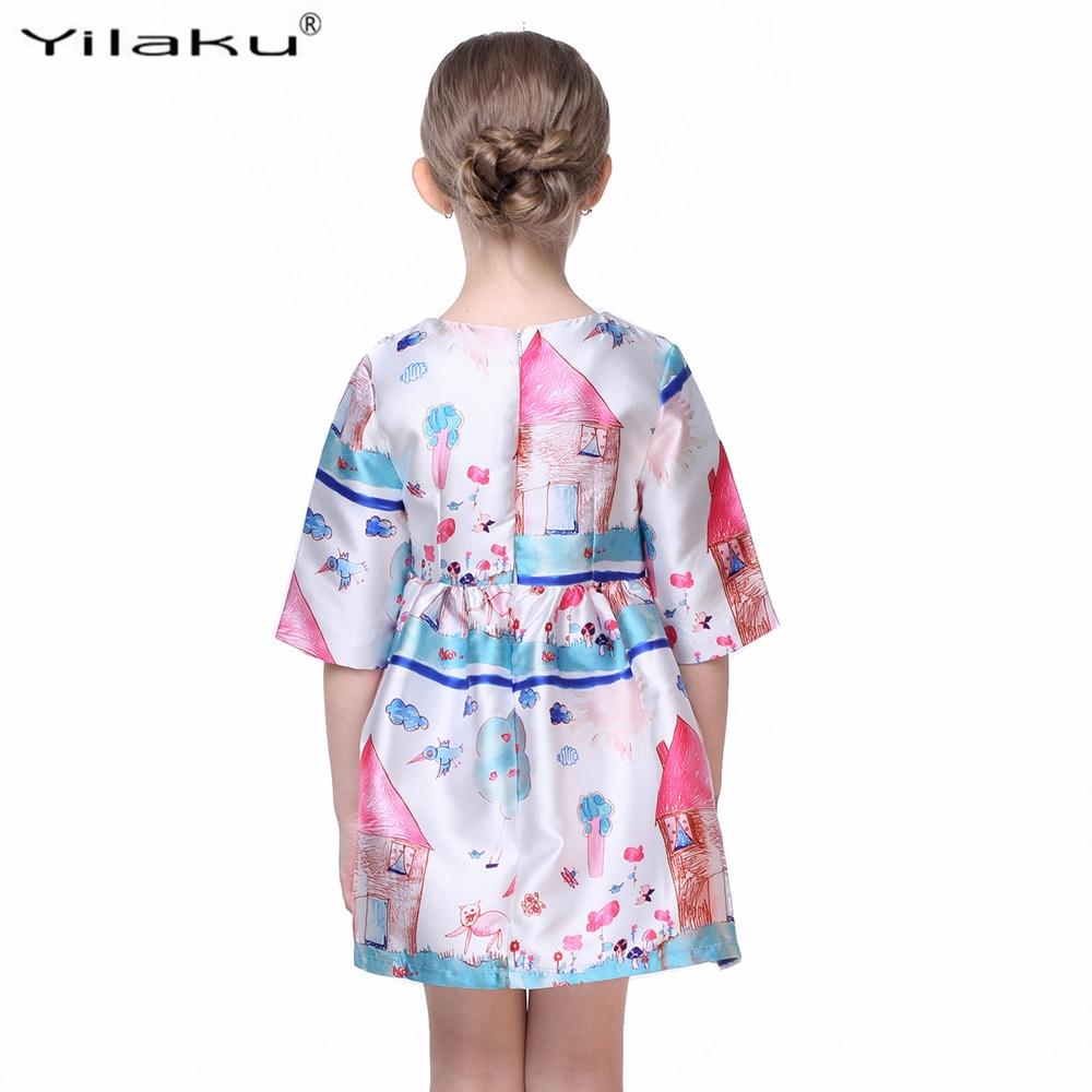 Princess Girls Dress Pół Rękaw Fashion Girl Character Painting - Ubrania dziecięce - Zdjęcie 6