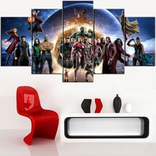 5 Pieces Framed Modern Hot Sell  HD Printing Painting The Avengers Type Poster Home Decoative Living Room Or Bedroom