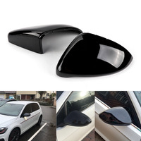 TAIHONGYU Pair Gloss Black Wing Mirror Covers Caps Direct Replace Fit For VW Golf GTI MK7 7.5