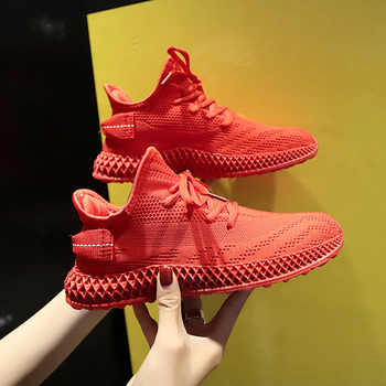 2019 New Summer White Mesh Breathable Women Sneakers Fashion Thick Bottom Womens Platform Casual Shoes Zapatos De Mujer 35-40