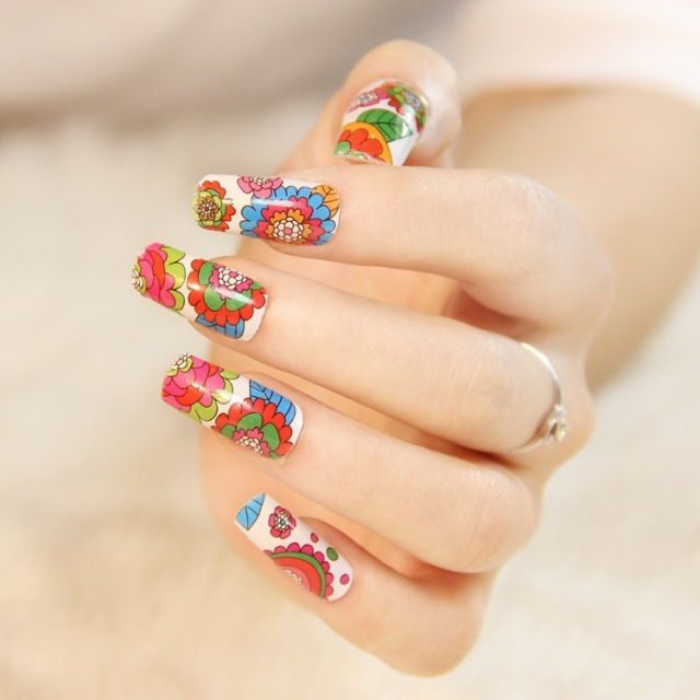 European fashion nails polish straps glue nail art Flowers small and ...