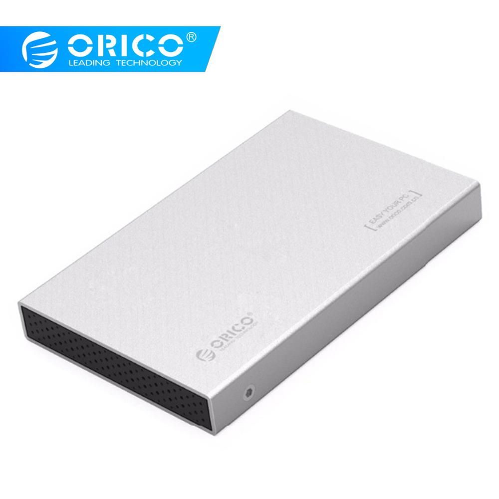 ORICO Aluminum USB3.0 To SATA3.0 5Gbps 2.5 Inch Hard Drive Enclosure Support 7mm & 9.5mm - Gray/Silver(2518S3 )