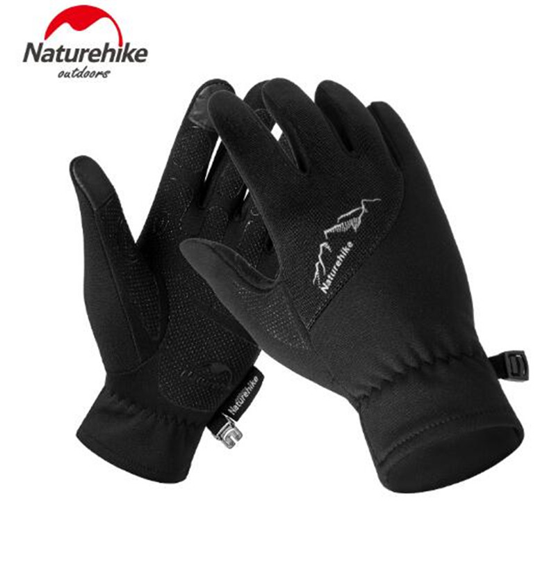 NatureHike Winter Men Women Outdoor Sports Warm Fleece Touch Screen Gloves Full Finger Climbing Cycling Gloves