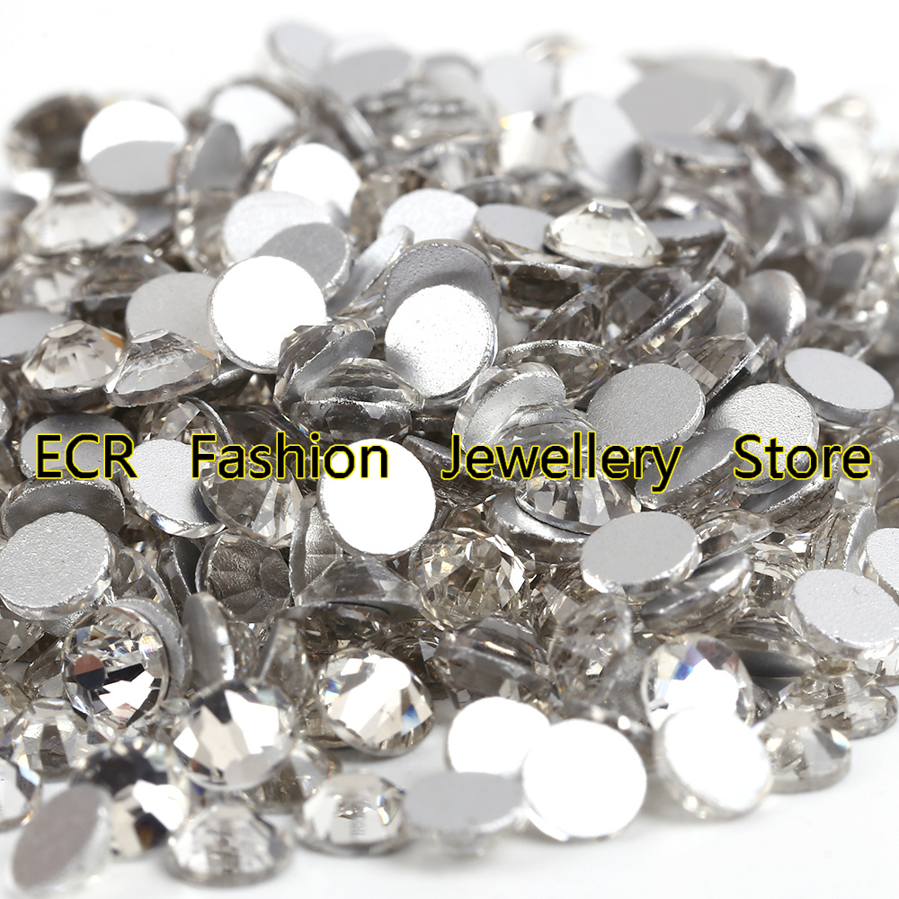 10Bags / Lot ~ !! Crystal Clear Flat Back Nail Art Inte Hotfix Rhinestones.SS3 SS4 SS6 SS8 SS10 SS12 SS16 SS20 SS30 SS34 SS40