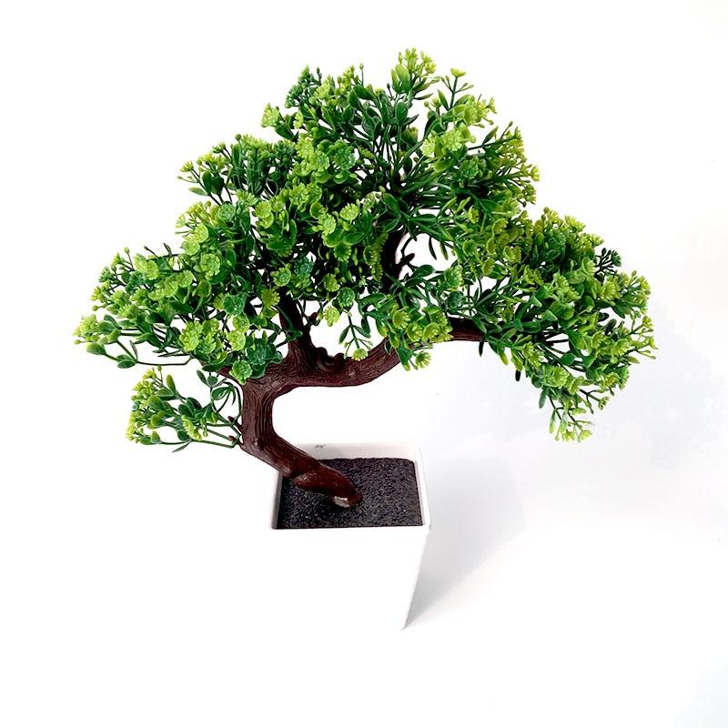 Umělé hrnkové rostliny Interiérové dekorace rostliny Falešné borovice hrnkové rostliny Rostlinné dekorace Domácí svatební dekorace umělé