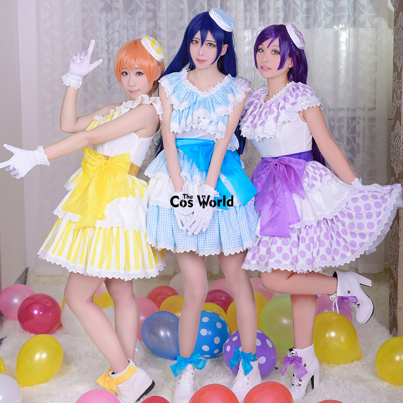 Здесь продается  Love Live School Idol Project 5th Lily White Tojo Nozomi Sonoda Umi Hoshizora Rin Dress Uniform Outfit Anime Cosplay Costumes  Одежда и аксессуары