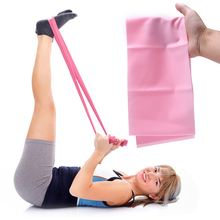 1.2m Elastic Yoga Pilates Rubber Stretch Exercise Band TPE Arm Back Leg Fitness Resistance Bands 4 Colors Free Shipping