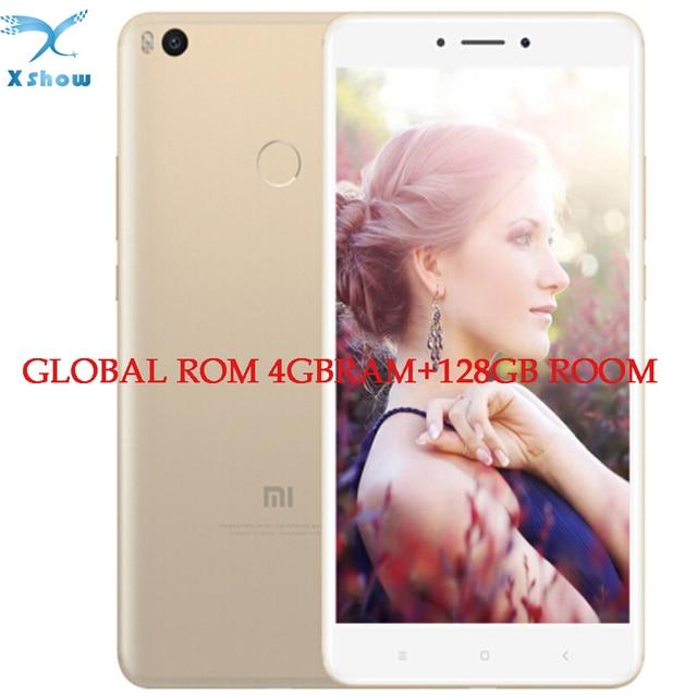 ORI G инал Сяо Mi Max2 Xiaomi Max 2 4 ГБ Оперативная память 128 ГБ Встроенная память snapdra G on625 fin g erprint ID FDD LTE 4 г 12MP 6.44 1080 P мобильных телефонов