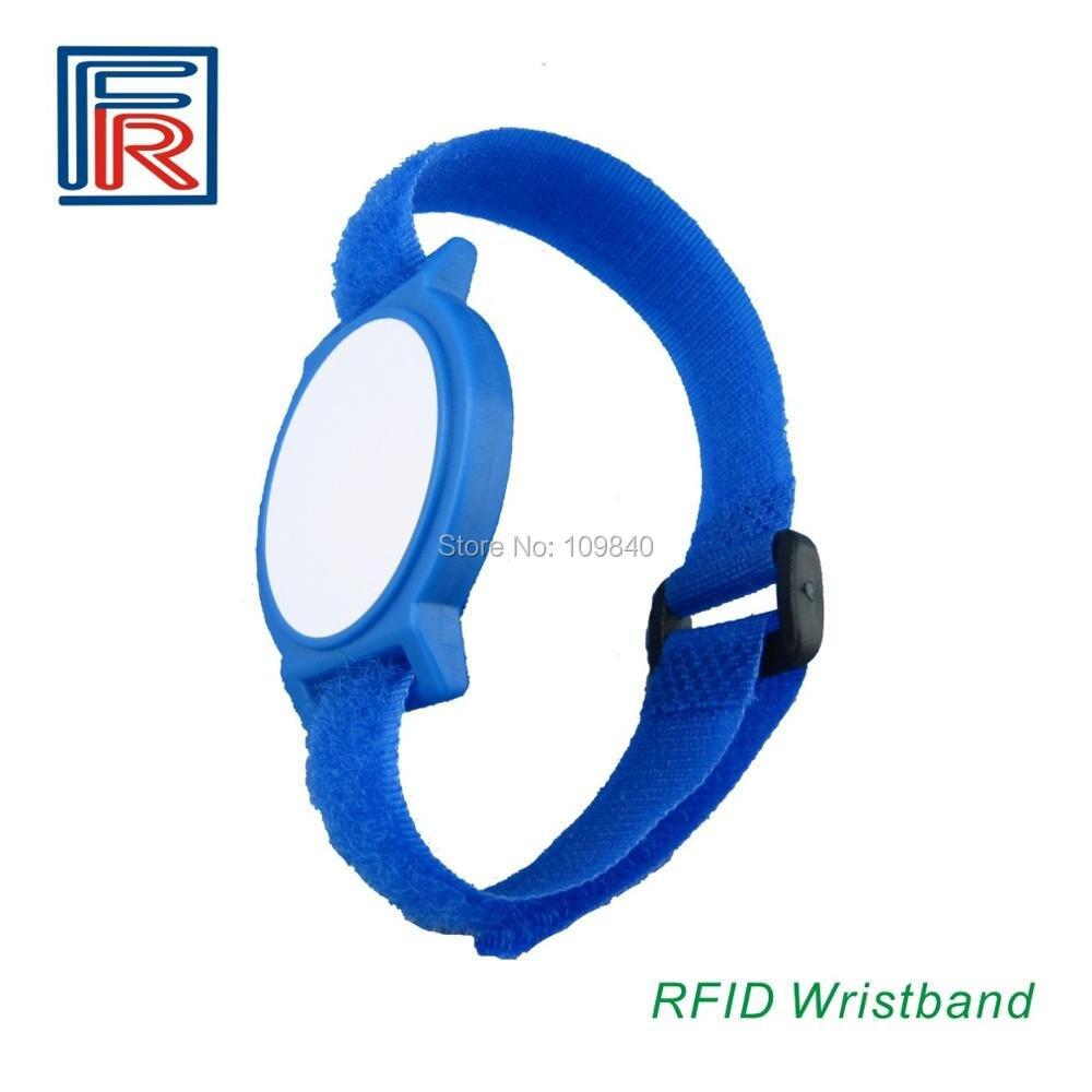RFID 13.56MHz Nylon Wristband/bracelet With Compatible M1 Chip Style NL1 Options Different Colors 100pcs/lot