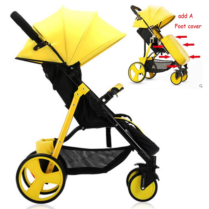 SLD baby stroller colorful fashion portable fold baby carriage baby pram with a suitable color foot