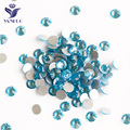 YANRUO 2058NoHF Aquamarine Flat Back Rhinestones Non Hot Fix Strass Crystal Glass Stones Nails Art Glue On Stone For Clothes