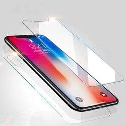 Przód + tył pełna ciała ochraniacz ekranu ze szkła hartowanego dla Apple iPhone XR XS MAX