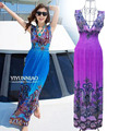 2016 NOVA Mulheres Long Maxi summer beach Boho bohemian havaiano vestido de noite grande tamanho xl xxl xxxl