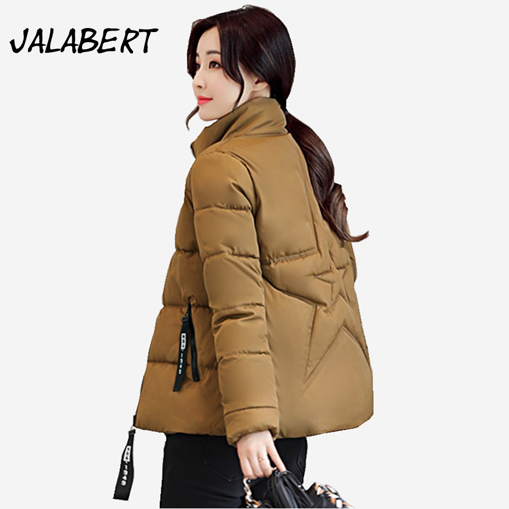 Ukraine Promotion Full Zipper Broadcloth Winter Jacket Women Coat 2017 New Female Cotton Parkas Five-pointed Star Warm Parka 2015 real promotion space cotton coat jacket bolsa cherry free herbal tea wholesale agent huang ju oem processing one generation