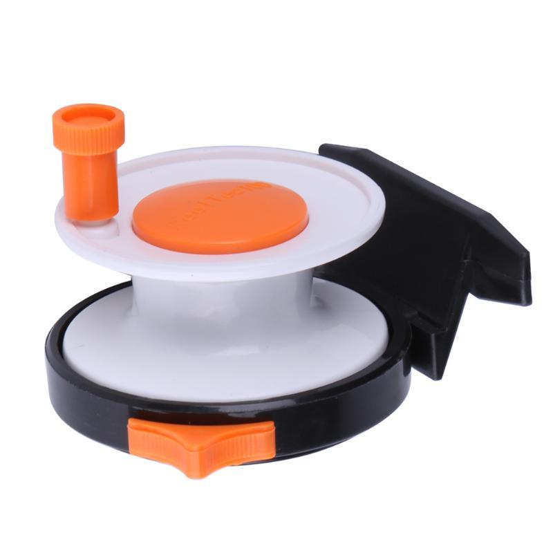 Portable Fly Fishing Mini Pole Line Reel Rods Former Rafting Shrimp Fish Ice Wheel Steel + ABS engineering plastic Mini Wheel