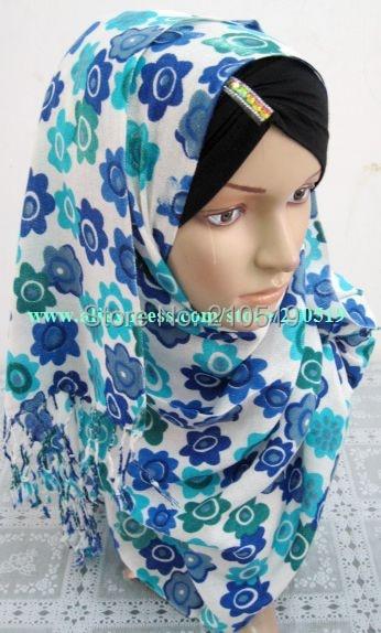 YJS479 New pashmina 170*65cm rectangle pashmina muslim scarf