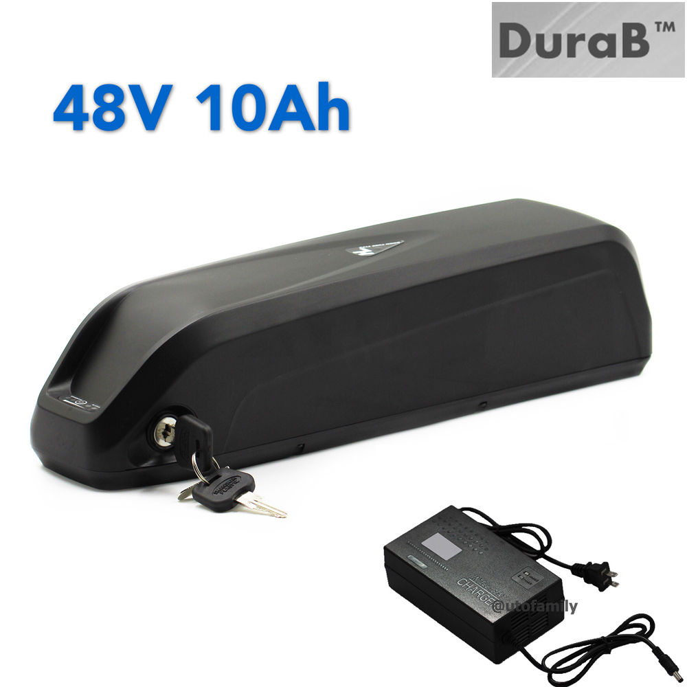 DuraB 48V 10AH HaiLong scooter Lithium Battery Electric Bicycles Li-ion E-Bike+A Charger cycling free shipping customs duty hailong battery 48v 10ah lithium ion battery pack 48 volts battery for electric bike with charger