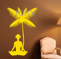 Yoga Pose Wall Sticker Vinyl Decal Meditation Philosophy Home Interior Design Art Wall Murals Bedroom Decor