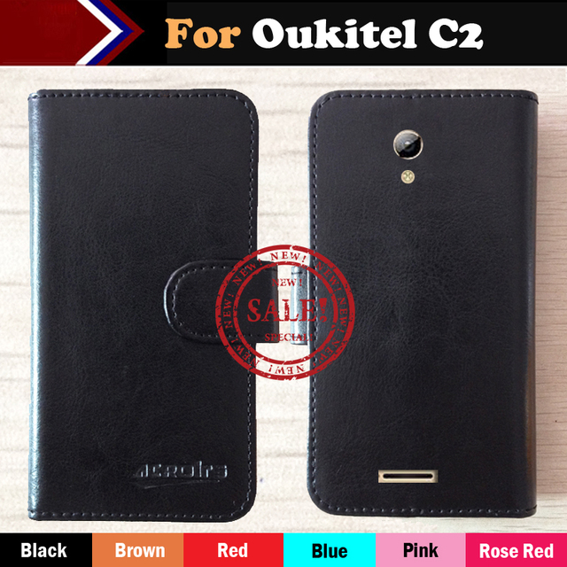 Hot!! OUKITEL C2 Case Factory Price 6 Colors Dedicated Leather Exclusive For OUKITEL C2 Phone Cover+Tracking