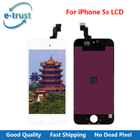 E Trust 1PCS LOT Top Quality LCD Display For IPhone 5s Digitizer Touch Assembly LCD Screen