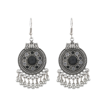 LOVBEAFAS Boho Vintage Drop Dangle Beads Tassel Earrings For Women Bohemian Enamel Jewelry Accessories Fashion Long Earrings