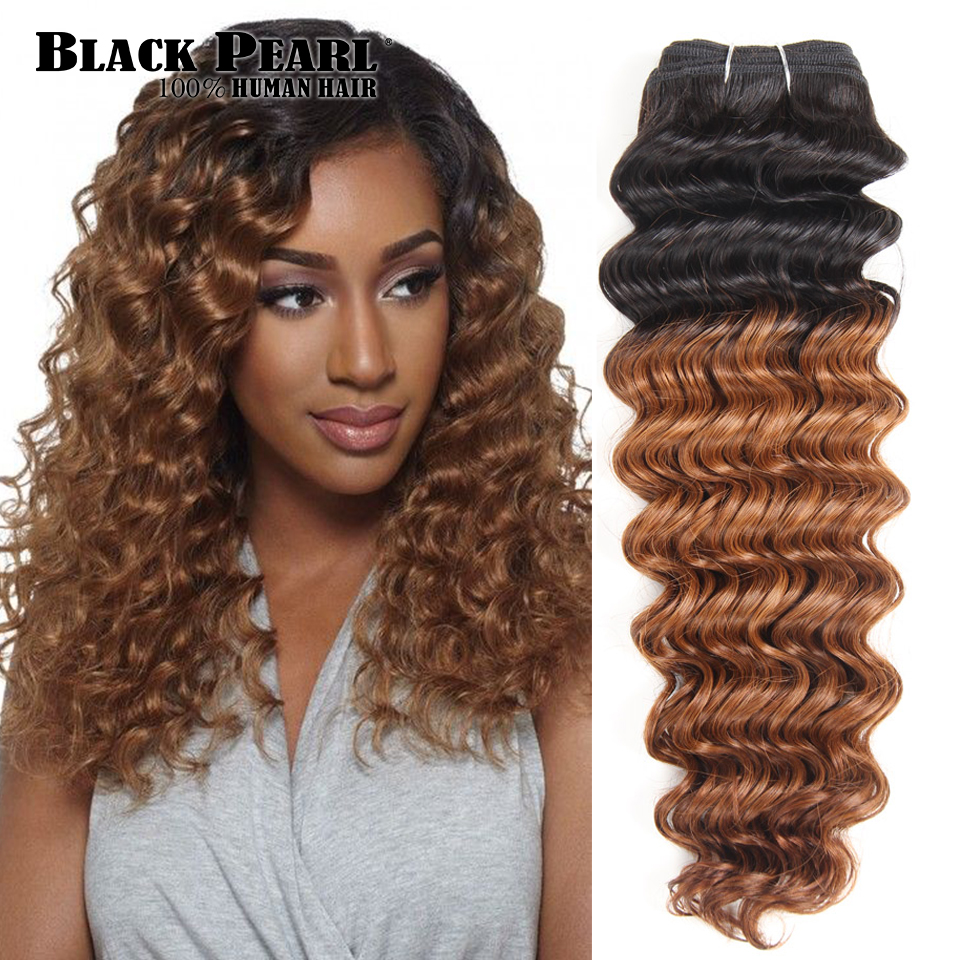 Human Hair Weaves Sincere Black Pearl Pre-colored 1pcs/lot Human Hair Bundles Deep Wave Brazilian Hair Wave 1 Bundles Natural Black Hair Extensions 100g Hair Extensions & Wigs