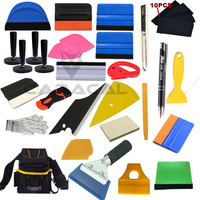 Car Wrapping Installation Tools Kit Vinyl Wrap Bag Squeegee Razor Glove Magnets