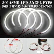 4 Шт. 131 ММ 12 В Led Angel Eyes Для Bmw E36 E38 E39 E46 с Проектором Передний DRL Противотуманные Фары Лампы Лампы Авто Halo Кольца комплект