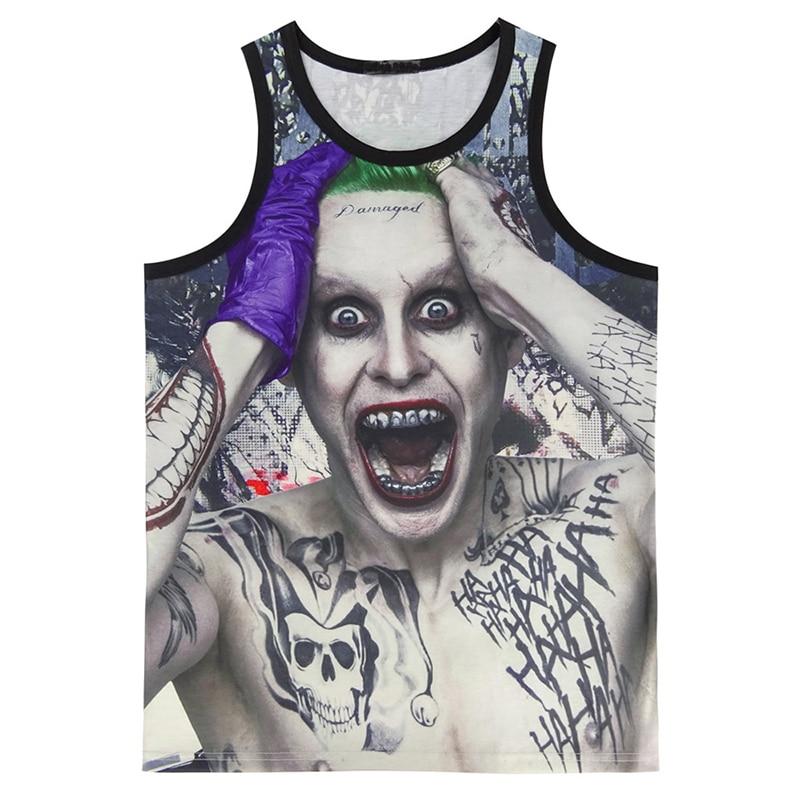 Men Suicide Squad 3D   Tank     Top   Harley Quinn Joker Vest