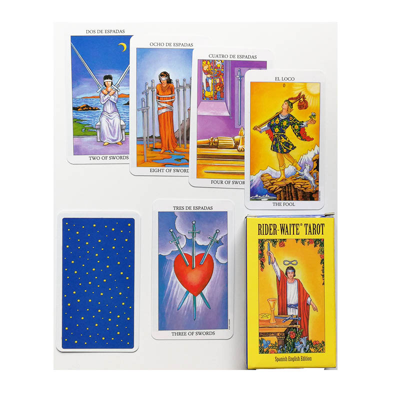 2019 New  Spanish English Version Rider Wait Tarot Deck Divination Fate Playing Cards Board Game Spanish Divination