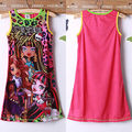 2015 Hot Princess Baby Girls Party Dress  Print Summer Casual Sundress 4 To 14Y