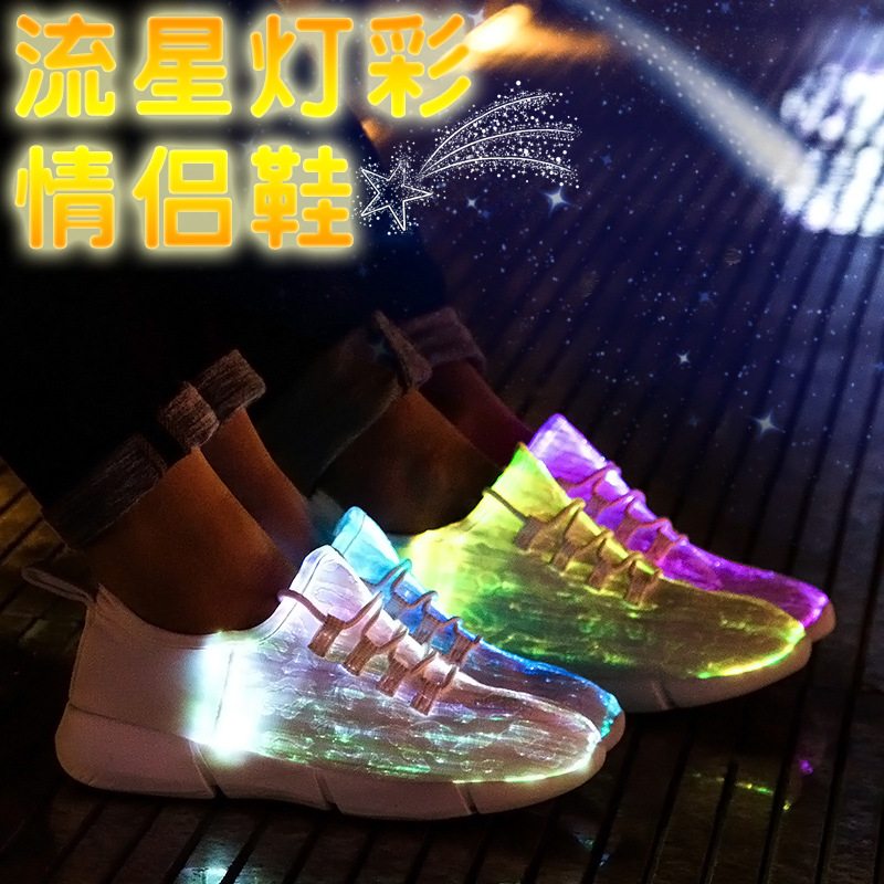 Iluminar Com Brilhantes Feminino Homens Para Luminosos Mulheres Tênis Tenis branco Sola Levaram Luminosa Cesta Sapatos Preto RwtUqx4Tq
