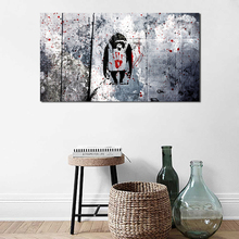 Banksy Dj Monkey Wallpaper Canvas Painting Print Living Room Home Decoration Modern Wall Art Oil Poster Salon Pictures