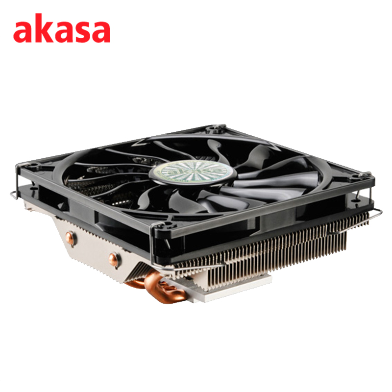 AKASA 4Pin PWM Cooling Fan CPU Cooler Ultra Quiet 120mm 4 Copper Heatpipe Radiator for Intel LGA775 115X 1366 for AMD AM2 AM3 4 heatpipe 130w red cpu cooler 3 pin fan heatsink for intel lga2011 amd am2 754 l059 new hot