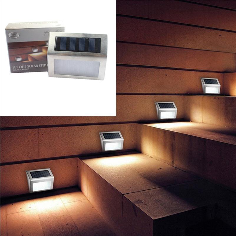 Led Solar Treppe Licht Terrasse Ecke Schritt Leiter Lampe Mini Solar