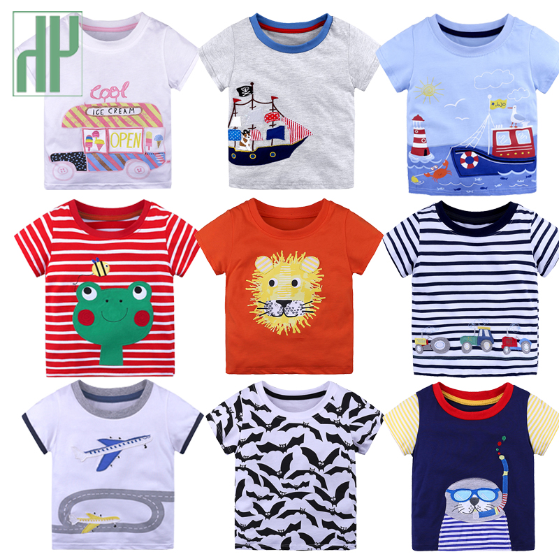 Kids <font><b>Tshirt</b></font> <font><b>Dinosaur</b></font> Animal Print Baby Boy <font><b>Tshirt</b></font> Short Sleeve Tiny Cottons Children Toddler Tees Tops Toddler Girl Shirts image